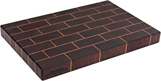 product image for Unique Cutting Board to Wow Anyone - 12 x 18 x 1.75 End Grain Butcher Block - Durable Brick Pattern - Handmade in USA - Self-Healing - Knife Stays Sharper Longer - Rubber Feet Included