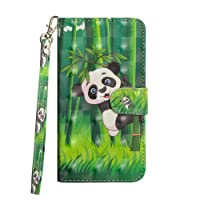 ZCXG Huawei P20 Pro Case Leather Wallet Phone Case Clear Cover Shockproof Panda Folio Flip Stand Shell PU Leather Case Front and Back Phone Case Ultra Slim Phone Protective