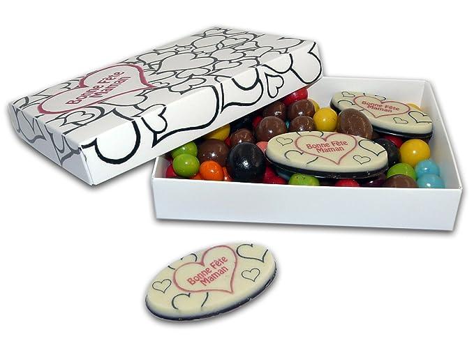 Coloriage Cadeau Fete Des Meres.Boite Lisea Mm A Colorier Avec Chocolats Personnalises Bonne Fete