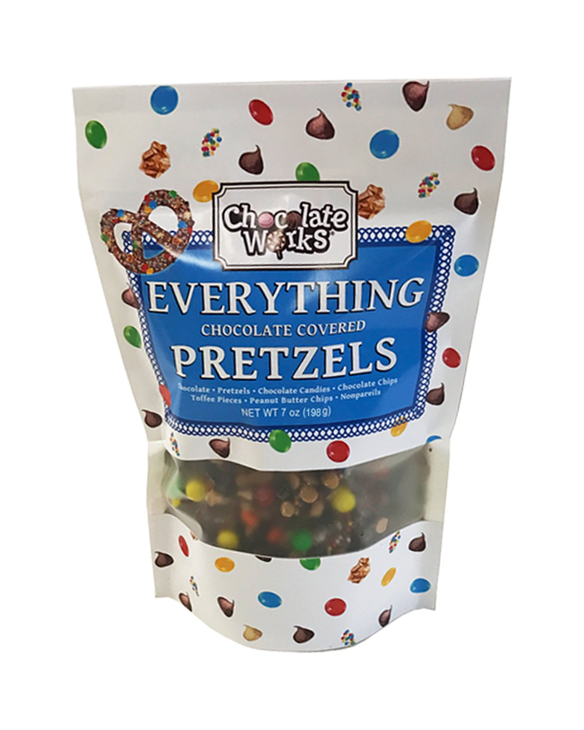 Everything Chocolate Covered Pretzels Pouches, 12 Pack by Chocolate Works