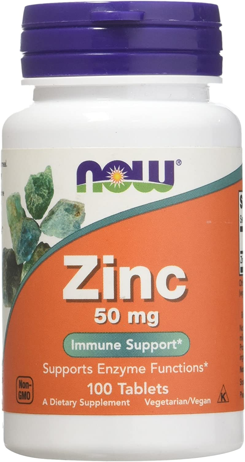 Zinc Gluconate 50mg Now Foods 100 Tabs