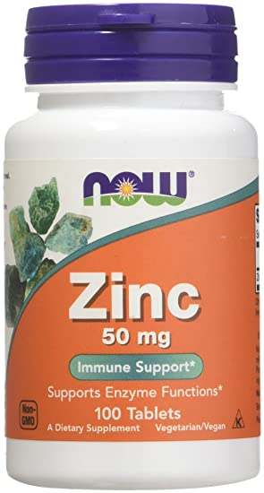 NOW Foods - Zinc 50 mg  - 100 Tablets