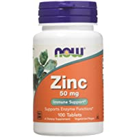 Zinc Gluconate 50mg Now Foods 100 Tabs