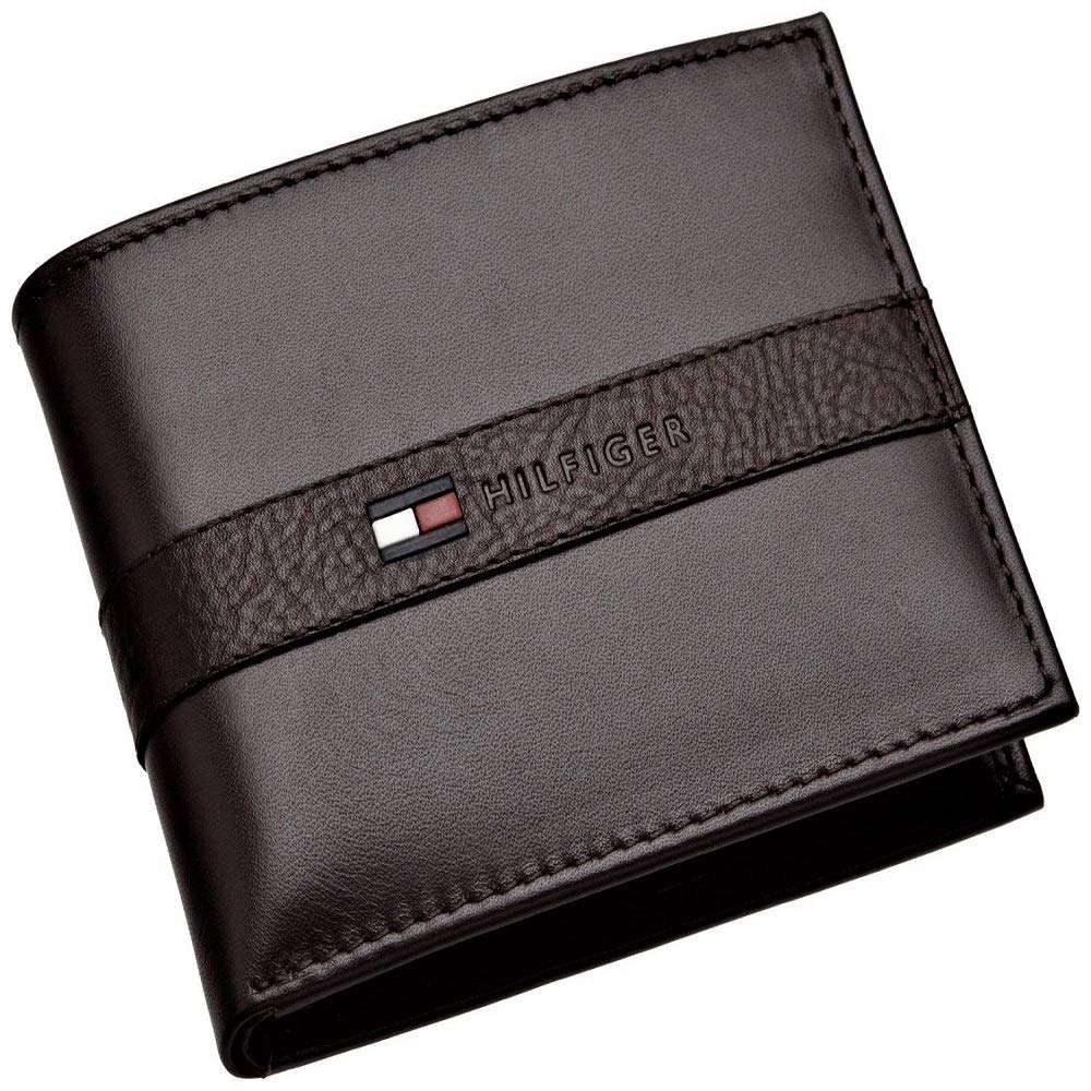 The Black Mens Ranger Leather Passcase Wallet with Removable Card Holder #SCTY