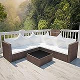 TecTake 800678 - Conjunto de Muebles de Jardín de Ratán, 2 ...