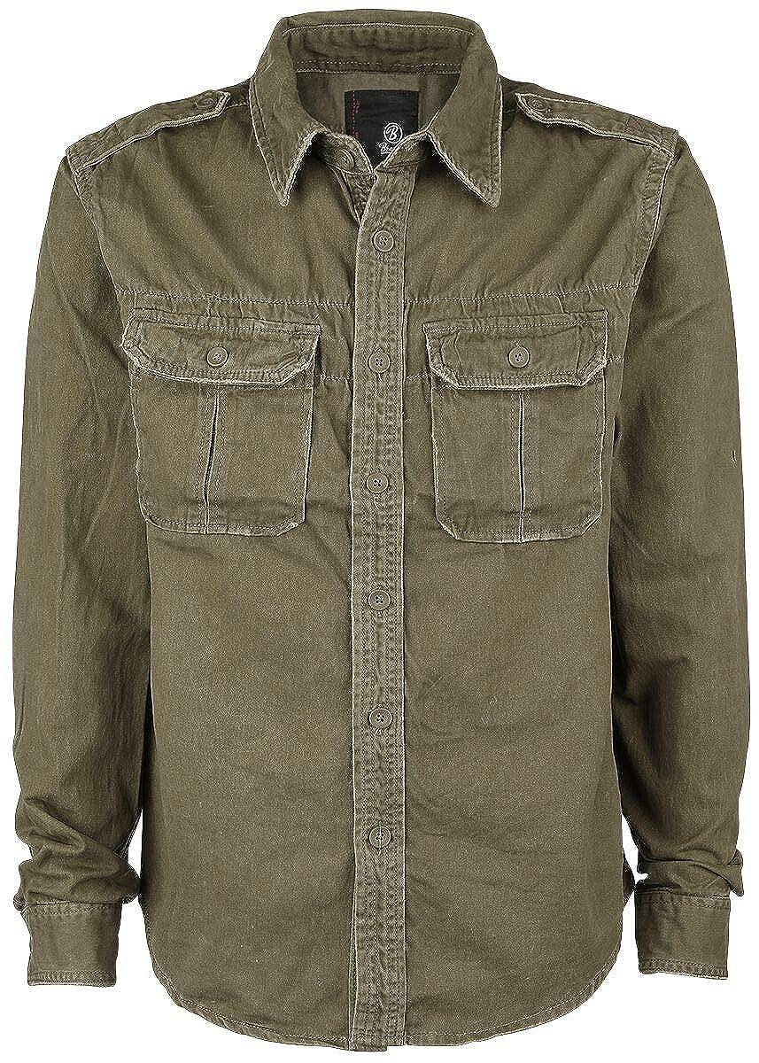 TALLA 5XL. Brandit Men's Langarmhemd Vintage