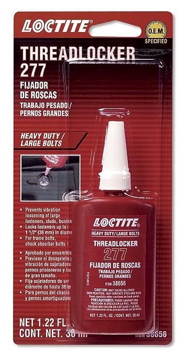 Amazon.com: Loctite 555353 277 Red Large Threads Threadlocker Bottle, 36-milliliter: Automotive
