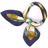 (ズイェ) ZUYEE レディース スカーフ シルク 正方形 ネッカチーフ オフィススカーフ