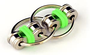 FidgetWorks Norm Chain Fidget Toy for Autism, ADD, ADHD, Stress & Idle Hands (Green) (DGC1723)