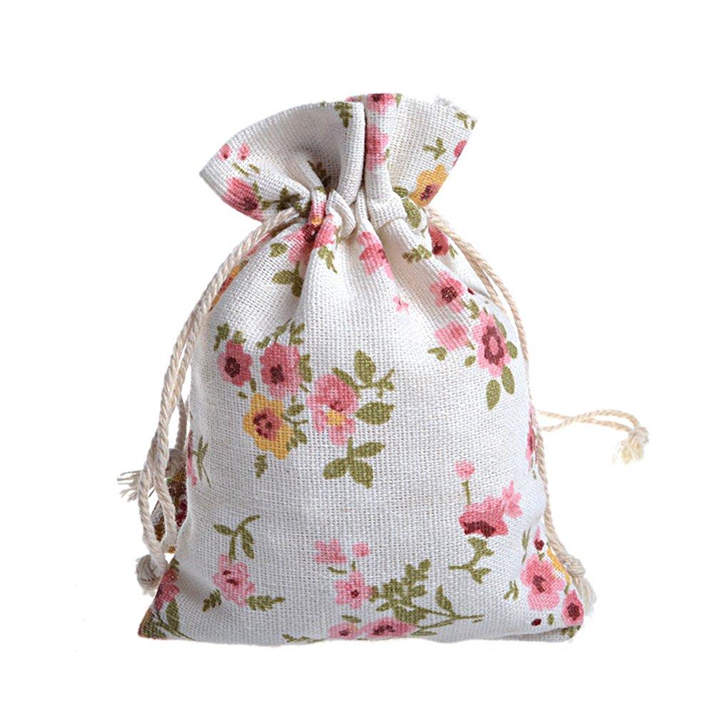 Ya Jin 30PCS Canvas Drawstring Pouch/Jewelry Wedding Party Favor Handy Sized Gift Wrap Bags