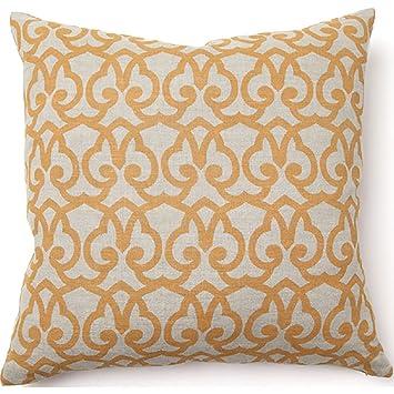 Amazon.com: Full Bloom Londres Print almohada en oro: Jardín ...