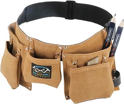 Amazon.com: Cinturón portaherramientas de piel para ...