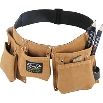 Real Leather Kids Tool Belt for Kids Woodworking Children Carpentry