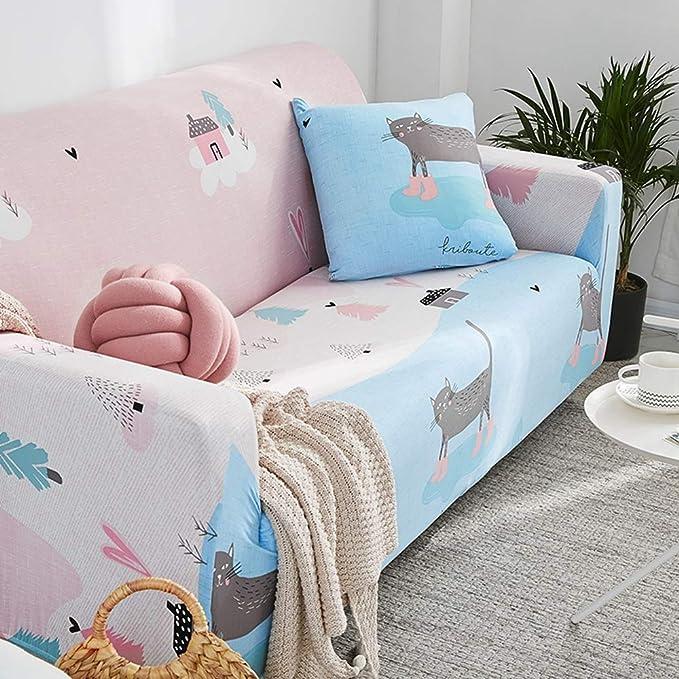 Amazon.com: Funda de sofá moderna de tela de licra, para ...