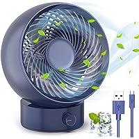 TedGem Mini USB-ventilator draagbare koelventilator, desktopventilator met USB turbo-ventilator, 180 soorten…