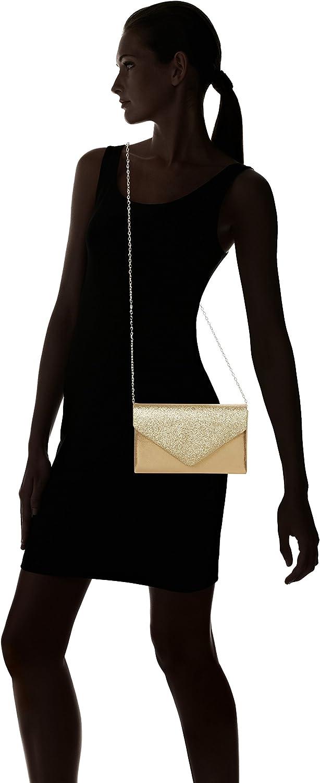 SwankySwans Femme Kelly Paillettes enveloppe Pochette de soirée fête Bal Sac d'embrayage Doré
