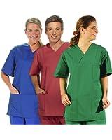 clinicfashion OP-Schlupfhemd, verschiedene Farben, Unisex für Damen und Herren, Größe XXS-XXL