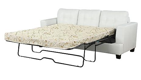 Amazon ACME B Platinum Sofa with Sleeper with White