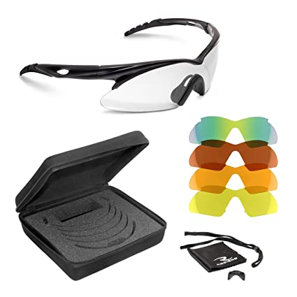 40099dd6b03c Amazon.com   Radians Shift Interchange Shooting Glasses (5 Interchangeable  Lenses)   Hunting Safety Glasses   Sports   Outdoors