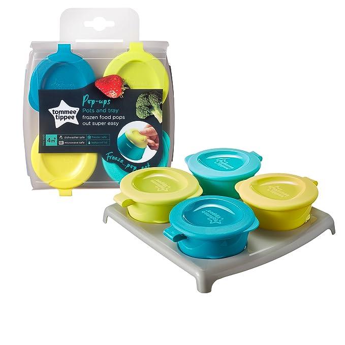 Tommee Tippee Baby Food POTS avec couvercles Boîte De Rangement Conteneurs de stockage 3pk