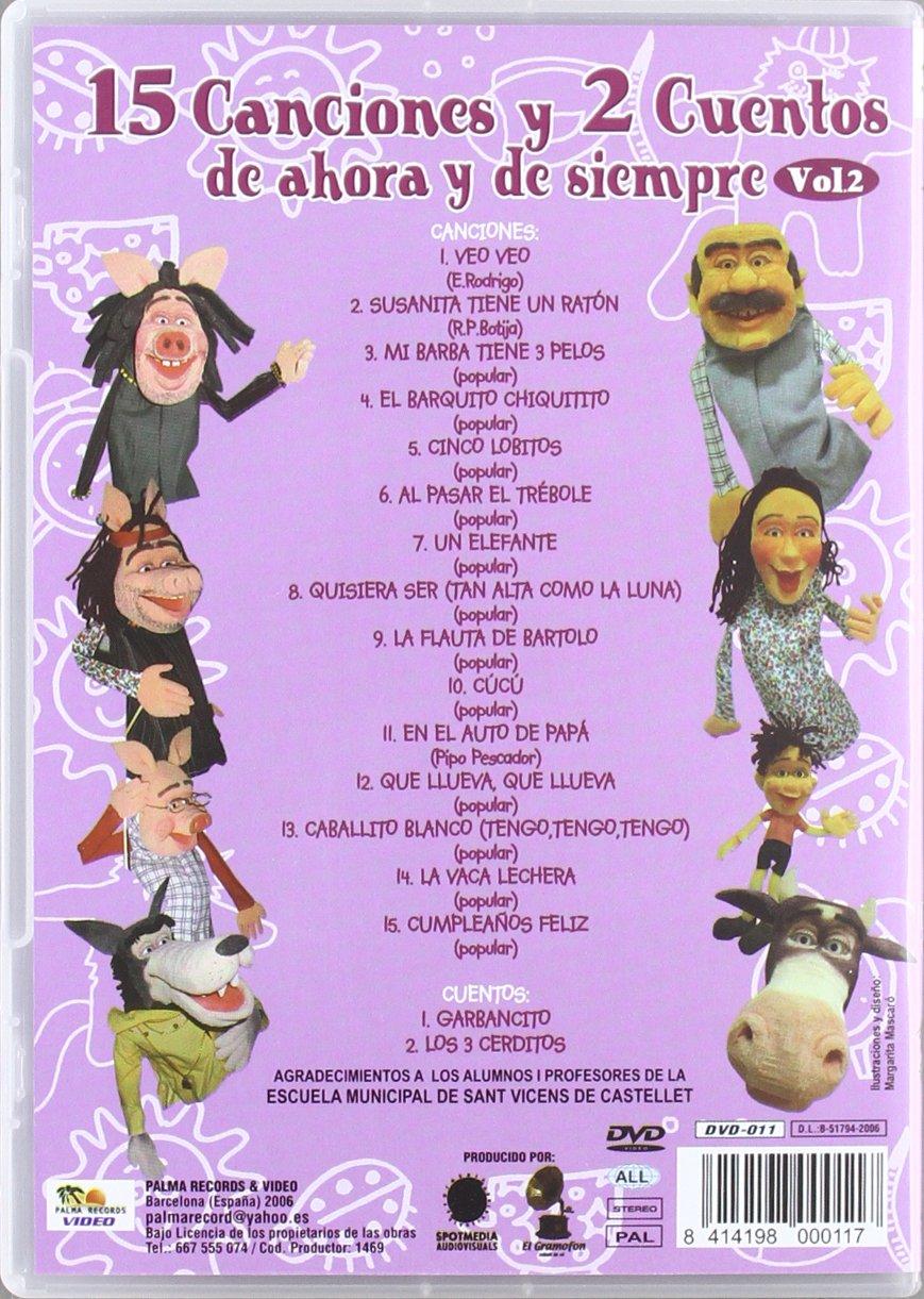 15 Canciones Y 2 Cuentos De Siempre Volumen 2 Dvd Amazones
