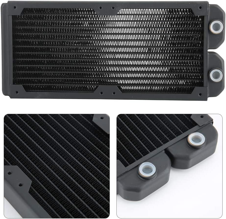 Tosuny Computer Water Cooling,PC Heat Sink Water Cooling Heat-Dissipating Copper Radiator for Beauty and Industrial Equipment.