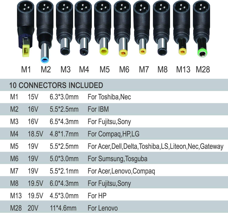 12V2A+6Plugs EXTRASTAR Alimentation Universelle 24 W avec 6 Prises CC pour 3 V-12 V /électronique Domestique 2000 mA Max