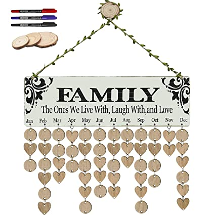 Amazon Com Elekfx Family Birthday Calendar Hanging Board Family