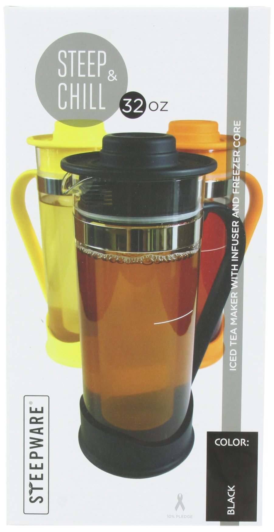 The Tea Spot Steep and Chill-Black, 32 Oz