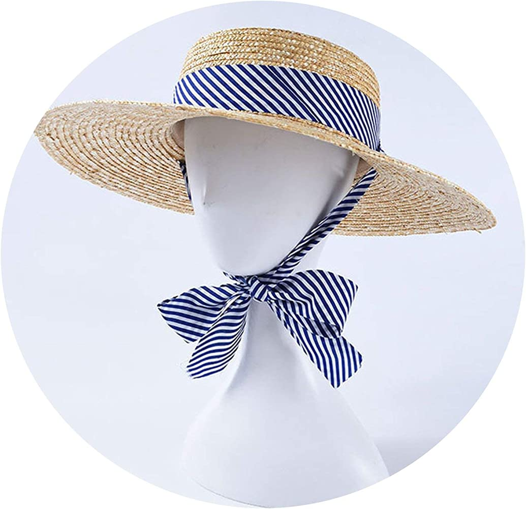 Blue straw hat Blue sun hat for women Fedora hat for women