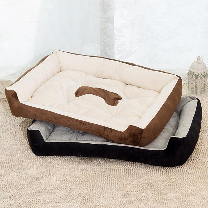 Camas para perro, cálida cama de felpa para gatos, de terciopelo rectangular, lavable, para mascotas, sofá cama para gatos y perros, cachorros: Amazon.es: ...