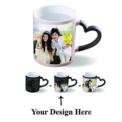 0ca1412554c Buy Akumar Print Hub Personalized Photo Printed Ceramic Heart Handle ...