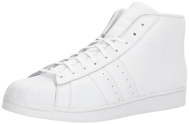 adidas Men's Pro Model, White/Super Purple/Gold Metallic, 8.5 M US B01FEIUFSY 13 D(M) US White/White/White