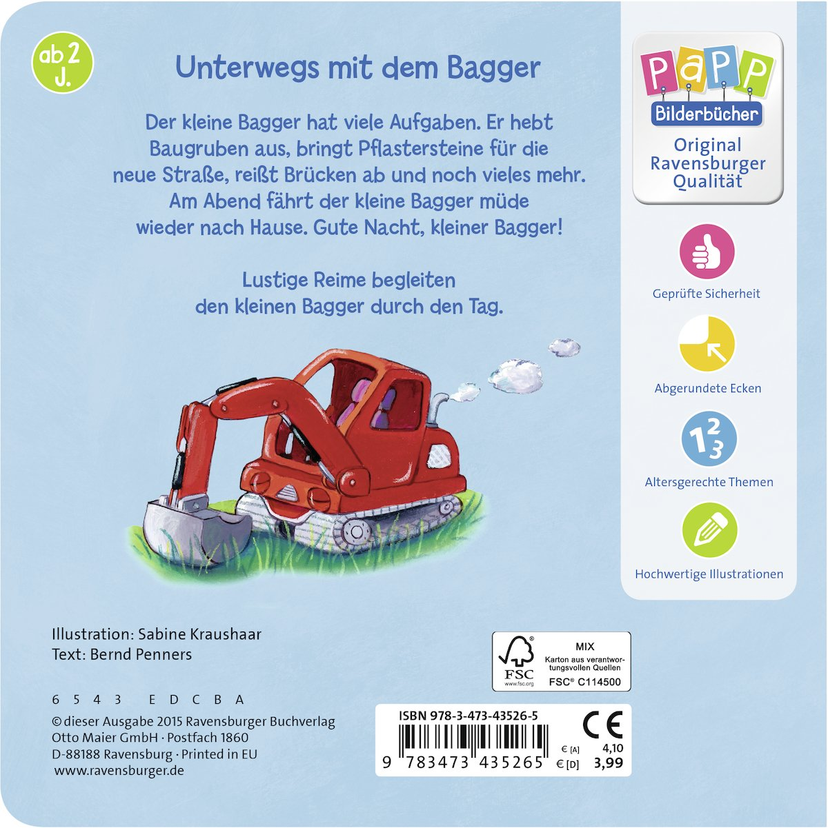 Was machst du, kleiner Bagger?: Bernd Penners: 9783473435265: Amazon ...
