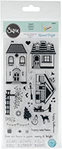 Sizzix , Happy Home by Rachael Bright, Multi Color, One Size Clear Stamps, Multicolor