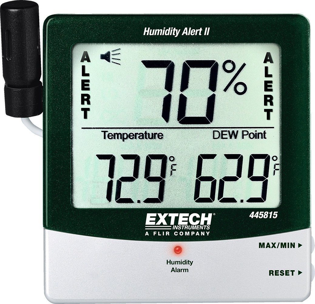 Extech 445815 Humidity Meter with Alarm and Remote Probe FLIR Commercial Systems Inc.