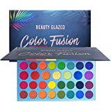 Beauty Glazed High Pigmented Makeup Palette Easy to Blend Color Fusion 39 Shades Metallic and Shimmers Eyeshadow…