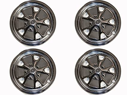 Amazoncom Mustang Hubcap Styled Steel Replica Set Of 4 1964 12