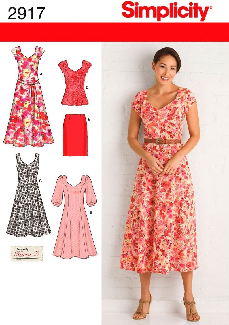 Simplicity 2917 Dress and Tunic Sewing Pattern for Women by Karen Z ,Sizes 10-18