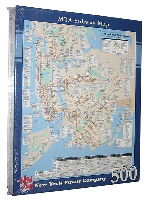New York City Bus And Subway Map.Amazon Com Mta Subway Map New York Company City Bus Railroad Ferry