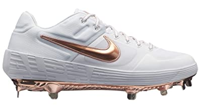 hot sale online 5a6aa 3369c Nike Men s Alpha Huarache Elite 2 Baseball Cleats (8, White Gold)