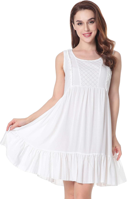 Vintage Nightgowns, Pajamas, Baby Dolls, Robes N NORA TWIPS Womens Sleepwear Victorian Sleepshirts Short Sleep Wear Dress Nightgown $24.99 AT vintagedancer.com