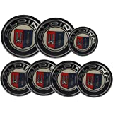 Alpina BMW Emblem Logo Set 7Pcs 2x 82mm+4x 68mm+1x 45mm