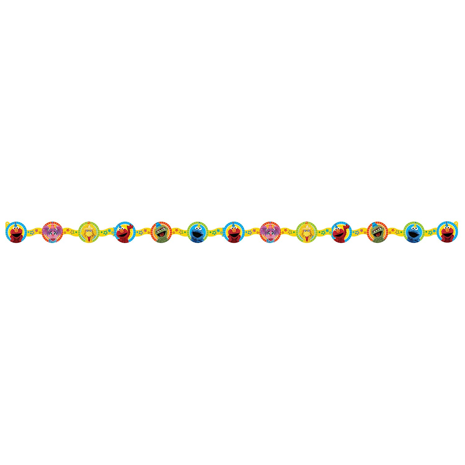 Amscan Die Cut Paper Garland | Sesame Street Collection | Party Accessory
