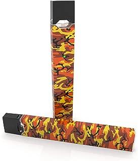 product image for 2 Pack - Orange Camo Decal Sticker Vinyl Skin for Juul Vape
