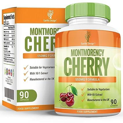 Cápsulas de Cereza de Montmorency - Extracto de Alta Concentración 10:1 - Para Hombres