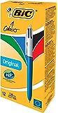 BIC 4 Colores Original - Caja de 12 bolígrafos