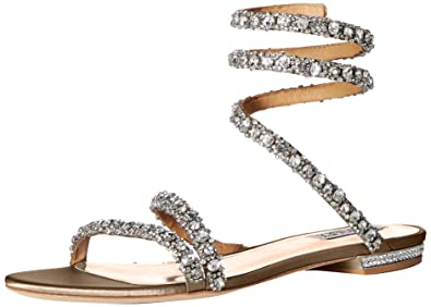 1f27e7fe1 Amazon.com  Badgley Mischka Women s Paz Flat Sandal  Shoes
