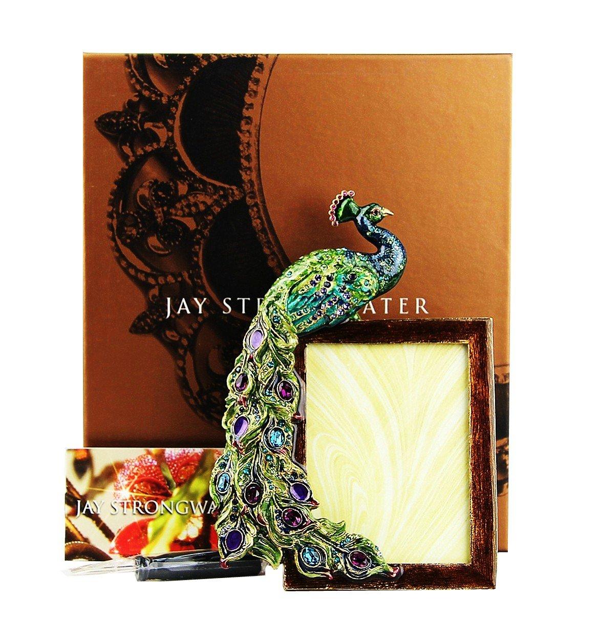 Amazon.de: Jay Strongwater Grant Pfau Rahmen 7, 6 x 10, 2 cm Bild