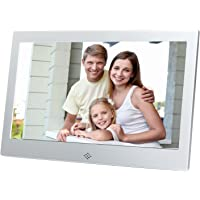 10 Inch Digital Photo Frame Metal Frame Electronic Picture Frame High Definition(720P) Video/Audio Player LCD Display 1024x768 USB/SD/MS/MMC Slot Support,with Wireless Remote Control(Silver)